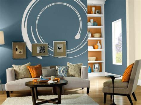Wohnzimmer Ideen Wandgestaltung Blau Rheumricom
