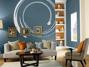Wohnzimmer Ideen Wand : wohnzimmer ideen wandgestaltung blau ~ Michelbontemps.com Haus und Dekorationen