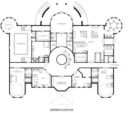mansion home floor plans a hotr reader s revised floor plans to a 17 000 square foot mansion homes of the rich