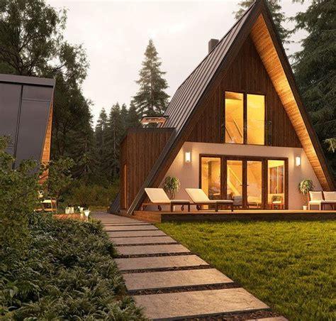 trio series avrame frame house  frame house  frame cabin