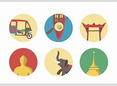 Vector Bangkok Icon Set Download Free Vector Art, Stock