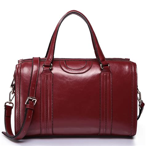 large leather purse cowhide leather bags