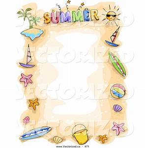 Summer Beach Border Clipart - Clipart Suggest