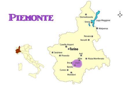 Piemont Italien Karte