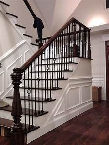 Hand Made Custom Newel Post And Stairs by Wm Pinion Fine