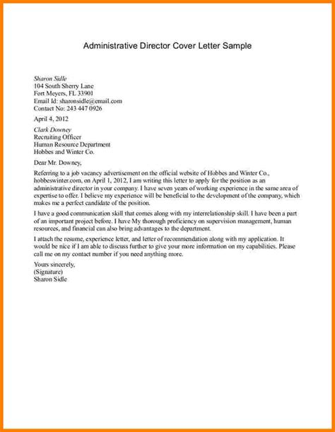 Cover Letter Sle Administrative Assistant by 6 Administrative Cover Letter Sles Sales Slip Template