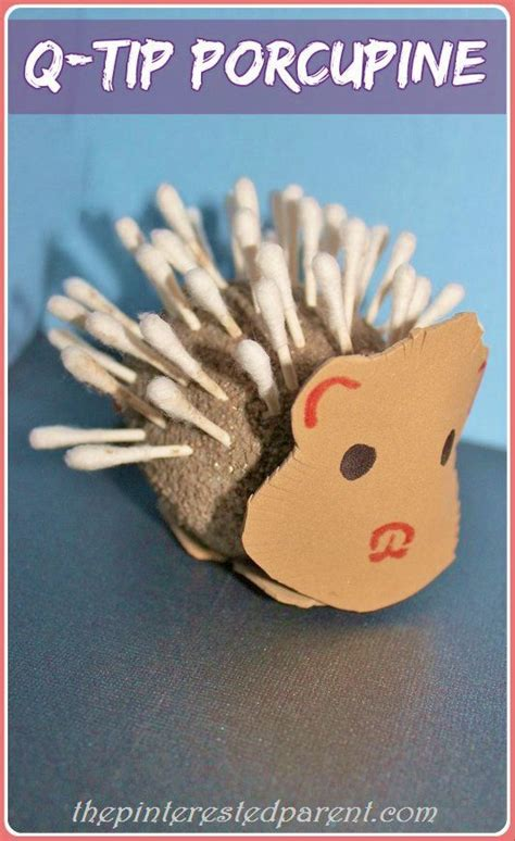 tip porcupine craft fine motor fun games pinterest