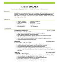 resume sles for executive assistant jobs best store administrative assistant resume exle livecareer