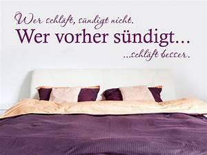 Erotische Bilder Für Schlafzimmer : wandtattoo spruch wer schl ft s ndigt nicht von ~ Michelbontemps.com Haus und Dekorationen