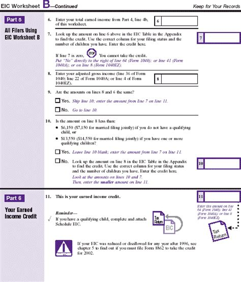 worksheet 1 pub 596 publication 596 earned income credit eic earned income