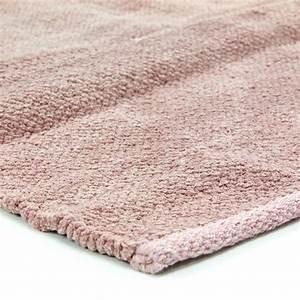 petit tapis rose pas cher 100 coton 55x85cm With tapis coton pas cher