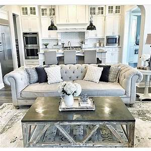 25 best ideas about tufted couch on pinterest neutral With kitchen colors with white cabinets with haute couture wall art