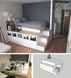 Extra Hohes Bett : die besten 25 bett selber bauen ideen auf pinterest bett bauen schlafzimmerserien und diy bett ~ Markanthonyermac.com Haus und Dekorationen
