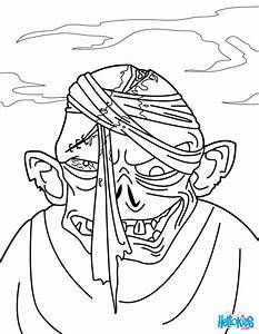 Zombie Head Coloring Pages Hellokidscom