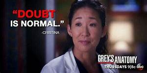 """""""Doubt is ... Cristina Yang Cookie Quotes"""