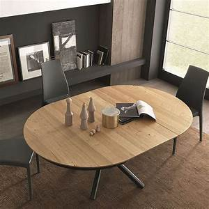 Table Ronde Extensible Bois : table design extensible ronde en bois avec pied central ~ Teatrodelosmanantiales.com Idées de Décoration