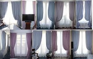 Embrases Double Rideaux : 25 paires de doubles rideaux en tissu a rayures 25 voilages blanc vendues avec 50 tringles a rideau ~ Teatrodelosmanantiales.com Idées de Décoration