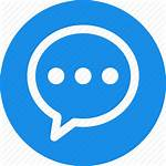 Icon Chat Message Comment Circle Chatting Bubble