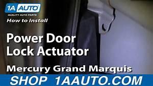 How To Replace Power Door Lock Actuator 92