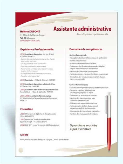 modele de cv secretaire de direction 17 best ideas about assistante de direction on assistante direction mod 232 le cv