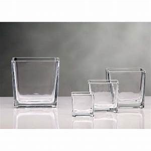 Vase En Verre Pas Cher : vase cube photophore en verre 6x6cm centre de table creative emotions ~ Teatrodelosmanantiales.com Idées de Décoration