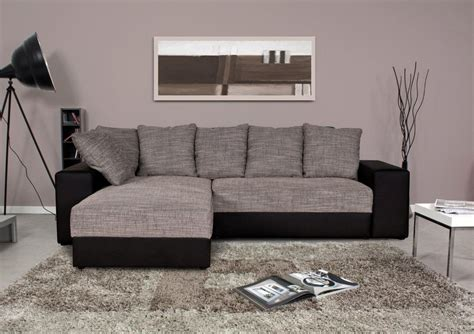 canapé et gris canapé d 39 angle réversible valentina noir et gris