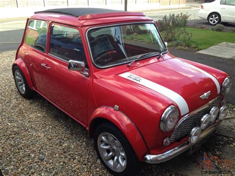 Classic Austin Mini Red 998cc With Sportspack Wheels