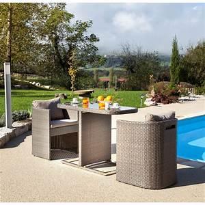 Table Pour Petit Balcon : petite table pour balcon avec fauteuils arrondis gris bari 3 les canap s et fauteuils de ~ Melissatoandfro.com Idées de Décoration