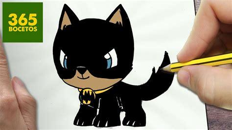 como dibujar perro batman kawaii paso  paso dibujos kawaii faciles   draw  batman dog