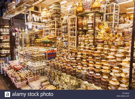Thailand, Bangkok, Chatuchak Market, Shop Display Of Tableware Stock Photo 95258061 Alamy