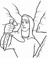 Saul David Coloring King Story Sharp Knife Bible Netart sketch template