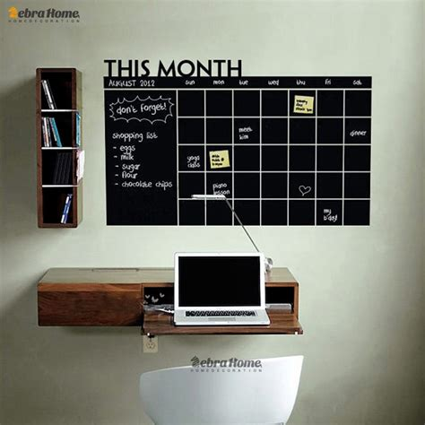 planner wall calendar diy chalkboard stickers vinyl monthly blackboard mural decor murals removable decals memo weekly decal sticker vinily chalk