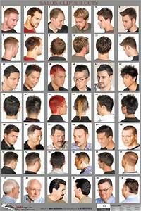 07wm Mens Hairstyle Guide Poster Barber Depot