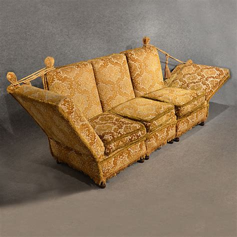 Comfortable Settee by Antique Knole Sofa Settee Large 3 Seater Antiques