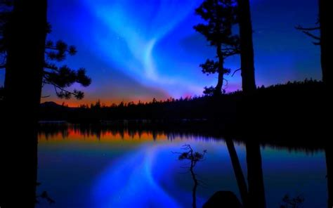 aurora pictures blue | HD Desktop Wallpapers | 4k HD