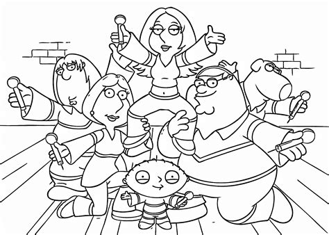 family guy coloring pages coloringsuitecom