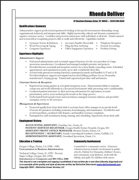 Great Resumes For Administrative Assistants by L R Administrative Assistant Resume Letter Resume