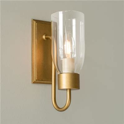 single old gold wall light kitchen clear glass
