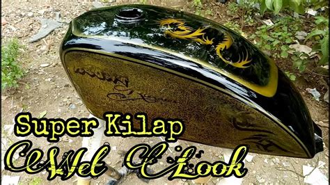 proses finishing clear coat tangki motor custom japstyle bober youtube