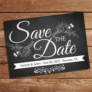 Chalkboard Save The Date Card | Save The Date | Wedding ...