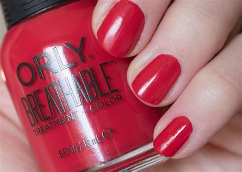 color my nails review orly breathable treatment color swatches
