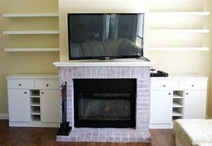 Chic Fireplace Makeover with Fake Built-Ins - Miss Bizi Bee