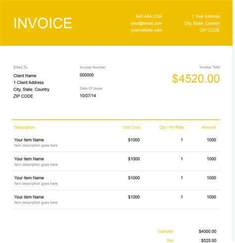 trucking company invoice template freshbooks