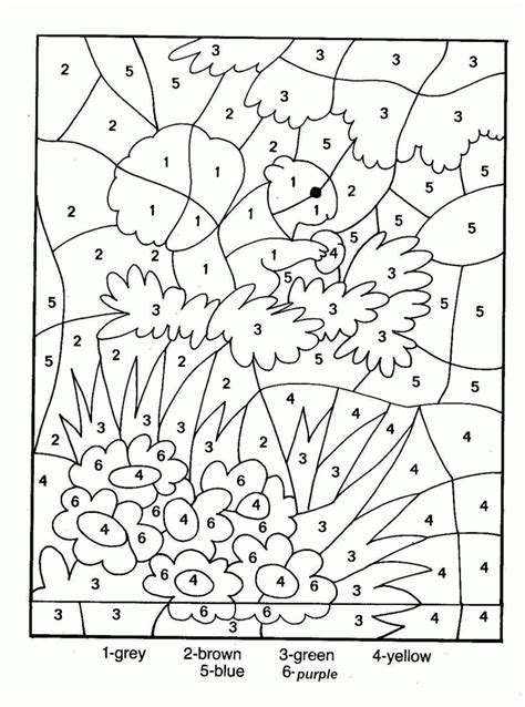 Coloring By Numbers by Free Printable Paint By Numbers For Adults Coloring Home