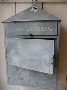 Briefkasten Shabby Chic : vintage briefkasten briefbox utensilo zink mailbox shabby ~ Watch28wear.com Haus und Dekorationen