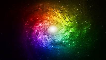 Rainbow Space Galaxy Background Bright Backgrounds Wallpapers