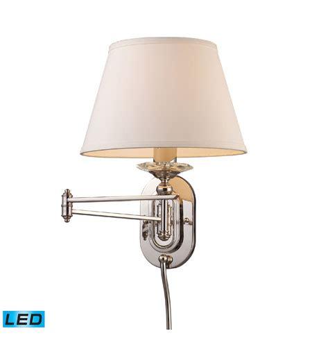 elk lighting swingarm 1 light swingarm sconce in polished