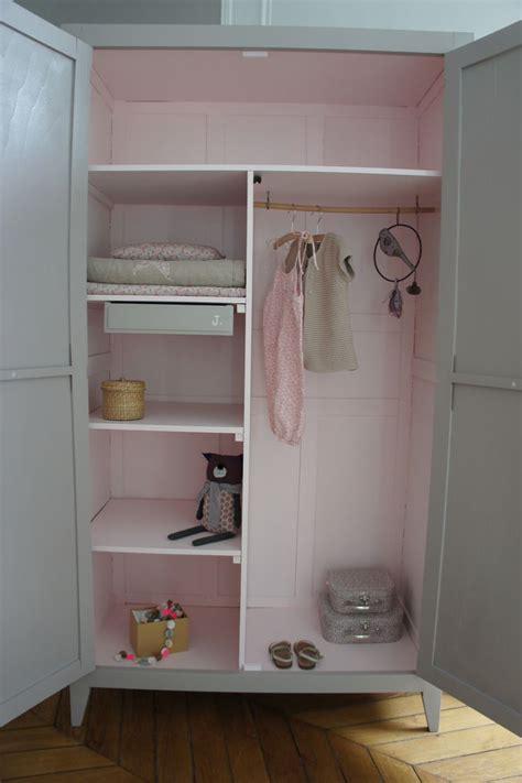 armoire vintage chambre armoire parisienne beige et poudré ideas