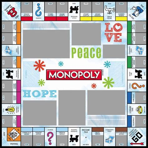 Custom Monopoly Board Template by 17 Best Images About Monopoly Templates On