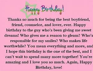 Romantic Birthday Paragraphs for Your Boyfriend | Happy ...